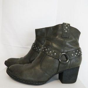 Born Women's 8.5 EU 40 Ankle Boots Leather